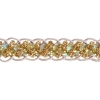 Sequin 6mm Round Trim Gold Hologram